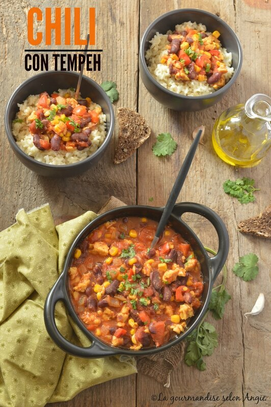 chili con tempeh - vegan