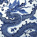 A fine and superbly painted blue and white 'Dragon' vase, Mark and period of Yongzheng (detail) 1