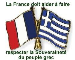 idrapeaux grec et francais
