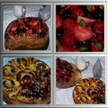 fruits rouges et pain au raisin