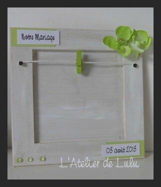 cadre personnalise pour mari s l 39 atelier de lulu. Black Bedroom Furniture Sets. Home Design Ideas