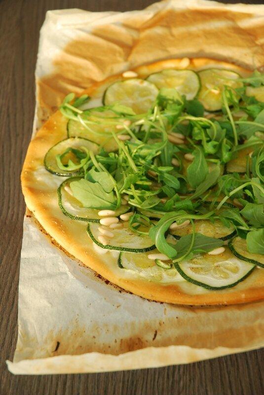 pizza verte courgette roquette