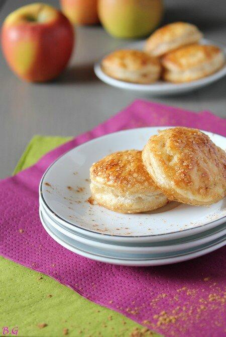 Petits feuilletés aux pommes-bouilles gourmandes