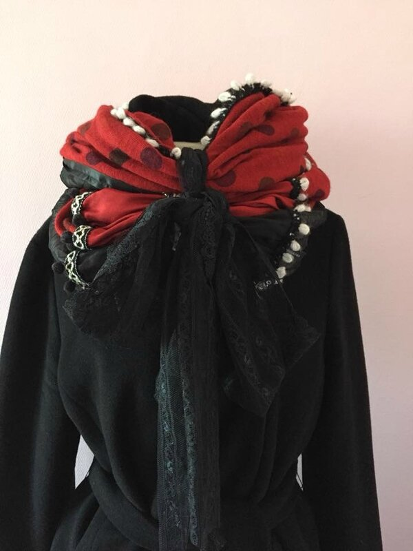 snood rouge 1