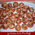 Feuillets apritif faon mini-pizzas
