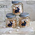 White & Pâques : petits pots lapins