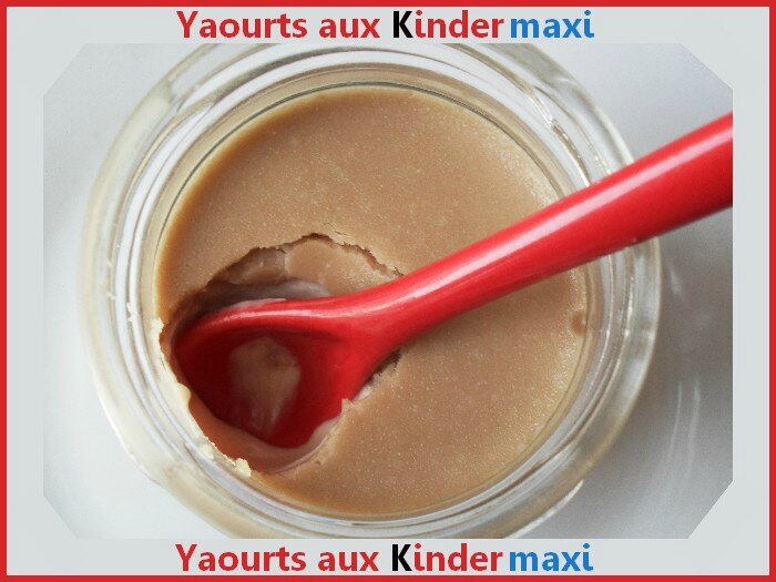 Yaourts aux kinder maxi 1