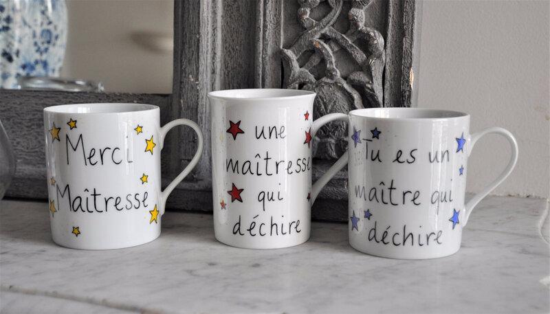 étoiles maîtresse maître mug