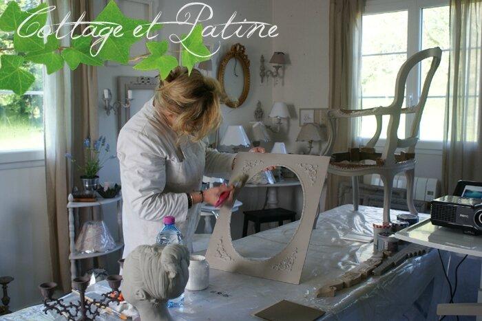 Formation professionnelle Cottage et Patine à l'atelier (37)