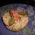 Risotto au saumon et asperge