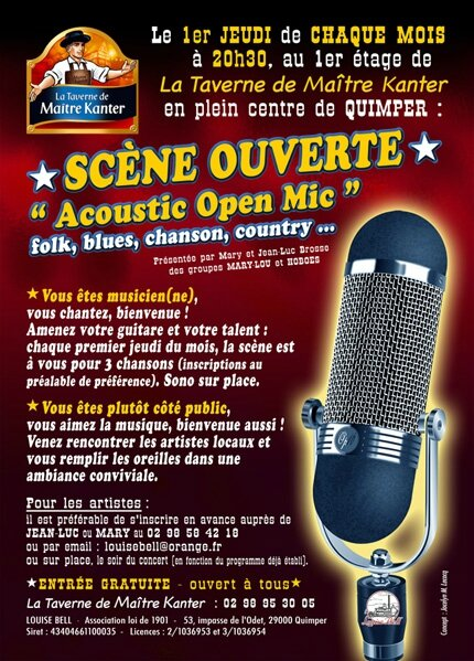 Acoustic Open Mic - flyer /recto