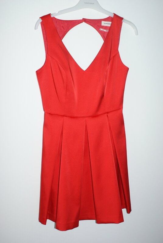 robe rouge naf naf