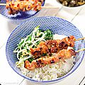 Brochettes yakitori de poulet