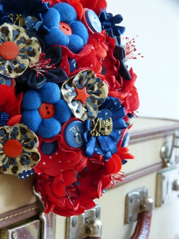 bouquet rock rouge bleu leopard (2)