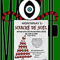 Marché de noël à montanay (rhône)