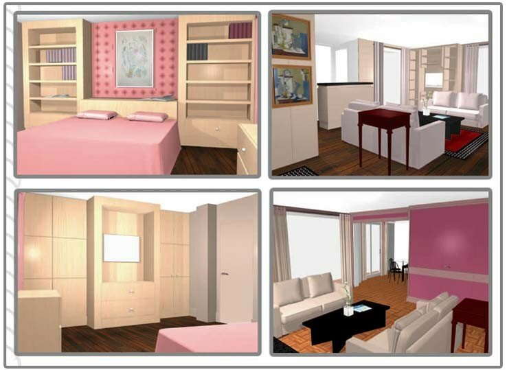 Aménagement interieur type appartement - Photo de Interieur - Book 3D