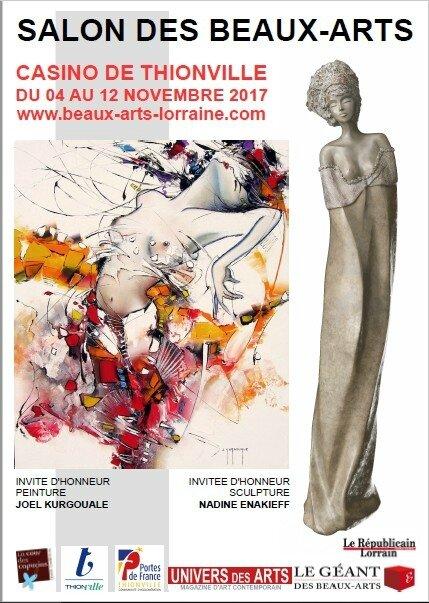 Affiche Salon des BeauxArts Thionville 2017