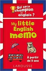 My little English memo couv