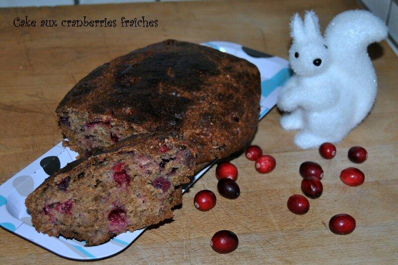 Cake aux cranberries fraîches