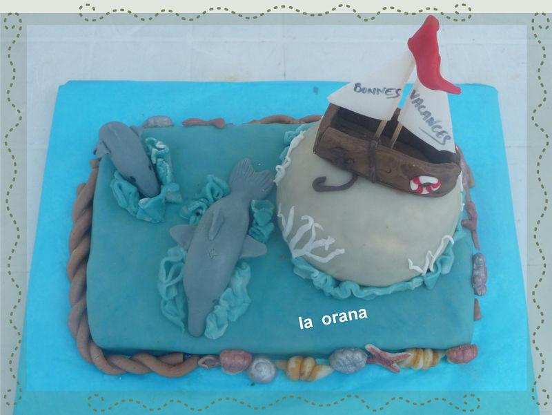 Gâteau dauphins/Dolphin cake
