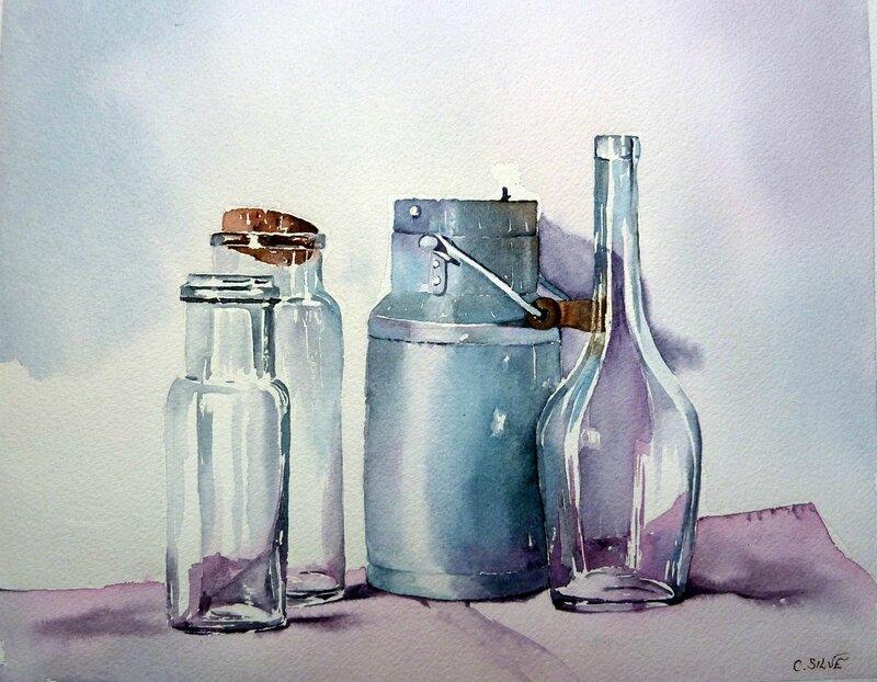 Flacons et reflets