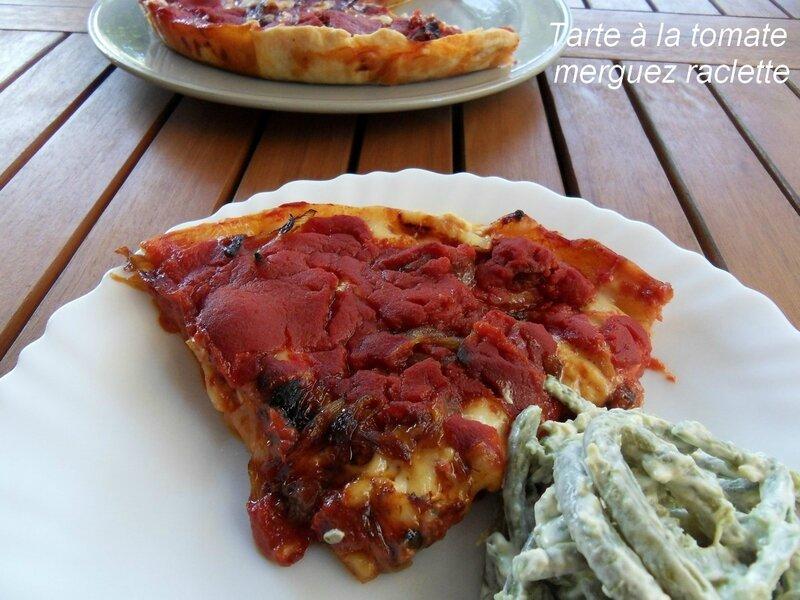 tarte à la tomate merguez raclette1