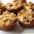 Mini invisibles aux pommes recouverts de crumble aux épices