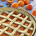 La tarte aux abricots et amande