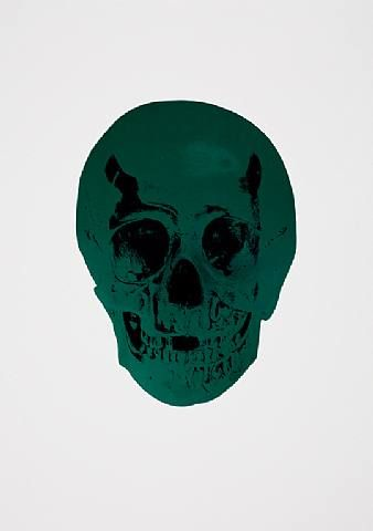 Damien Hirst, The Dead Racing Green Raven Black Skull , 2009