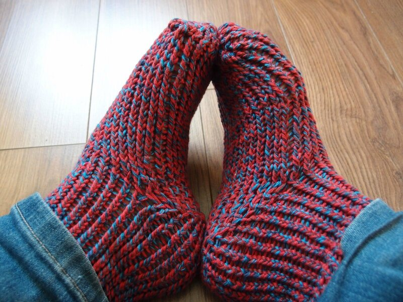 chaussettes tricotin M