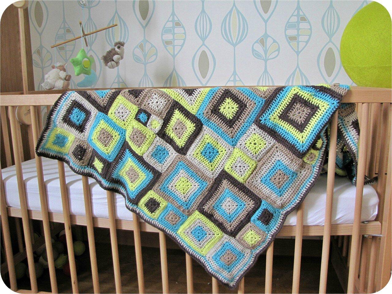 Celle qui se prenait pour une babette le tricomonde de sophie - Carre crochet pour couverture bebe ...