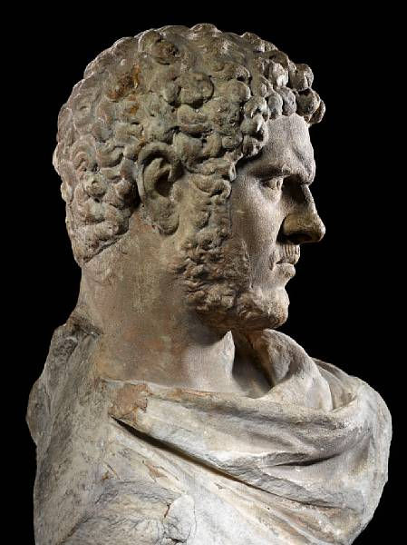 Bust Of Roman Emperor Caracalla Common Enemy Of Mankind