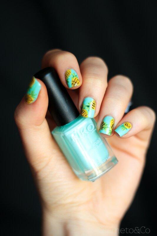 nail art ananas tropical été summer pineapple_-6