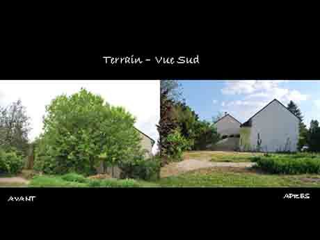 Terrain vue sud avant apr s photo de elagage for Sondage terrain avant construction