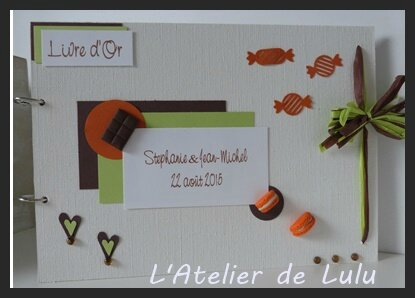 livre d'or gourmandise orange vert