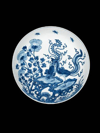 A_blue_and_white_saucer_dish