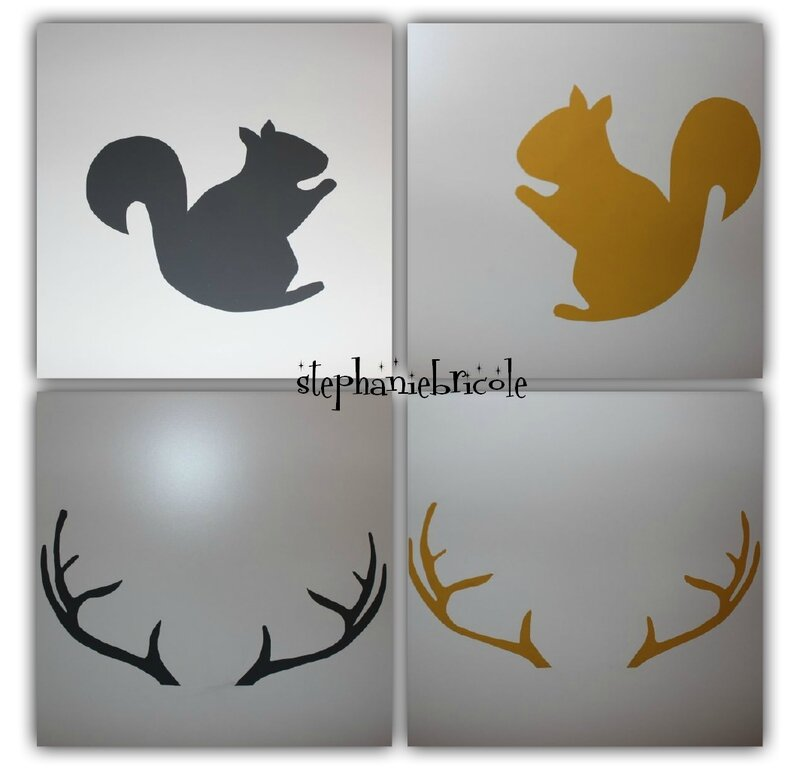 diy sticker animal déco