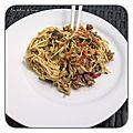 Nouilles chinoises au boeuf et au curry au cookeo