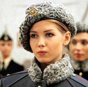femme armée russe