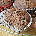 Muffins tout nutella et pépites de chocolat