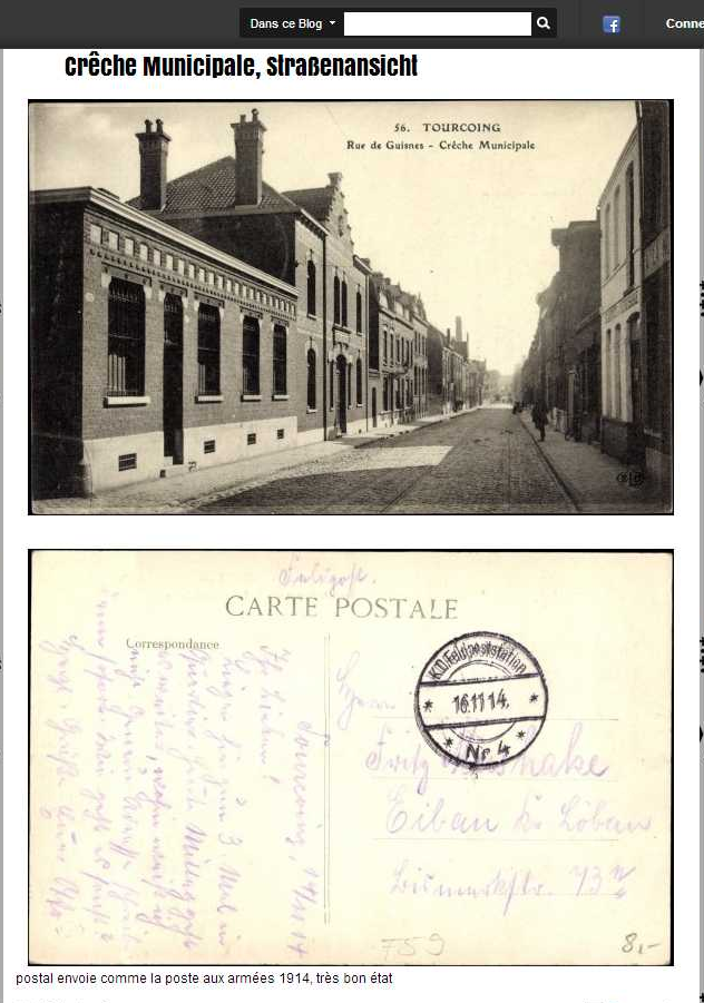 ancienne carte postale tourcoing nord rue de guisnes. Black Bedroom Furniture Sets. Home Design Ideas