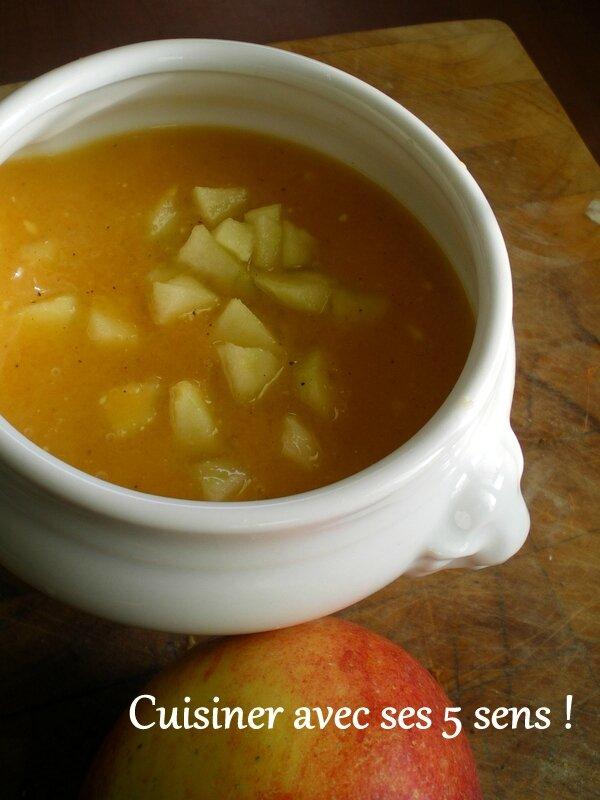 Soupe de potiron aux pommes cuisiner avec ses 5 sens - Cuisiner un potimarron ...