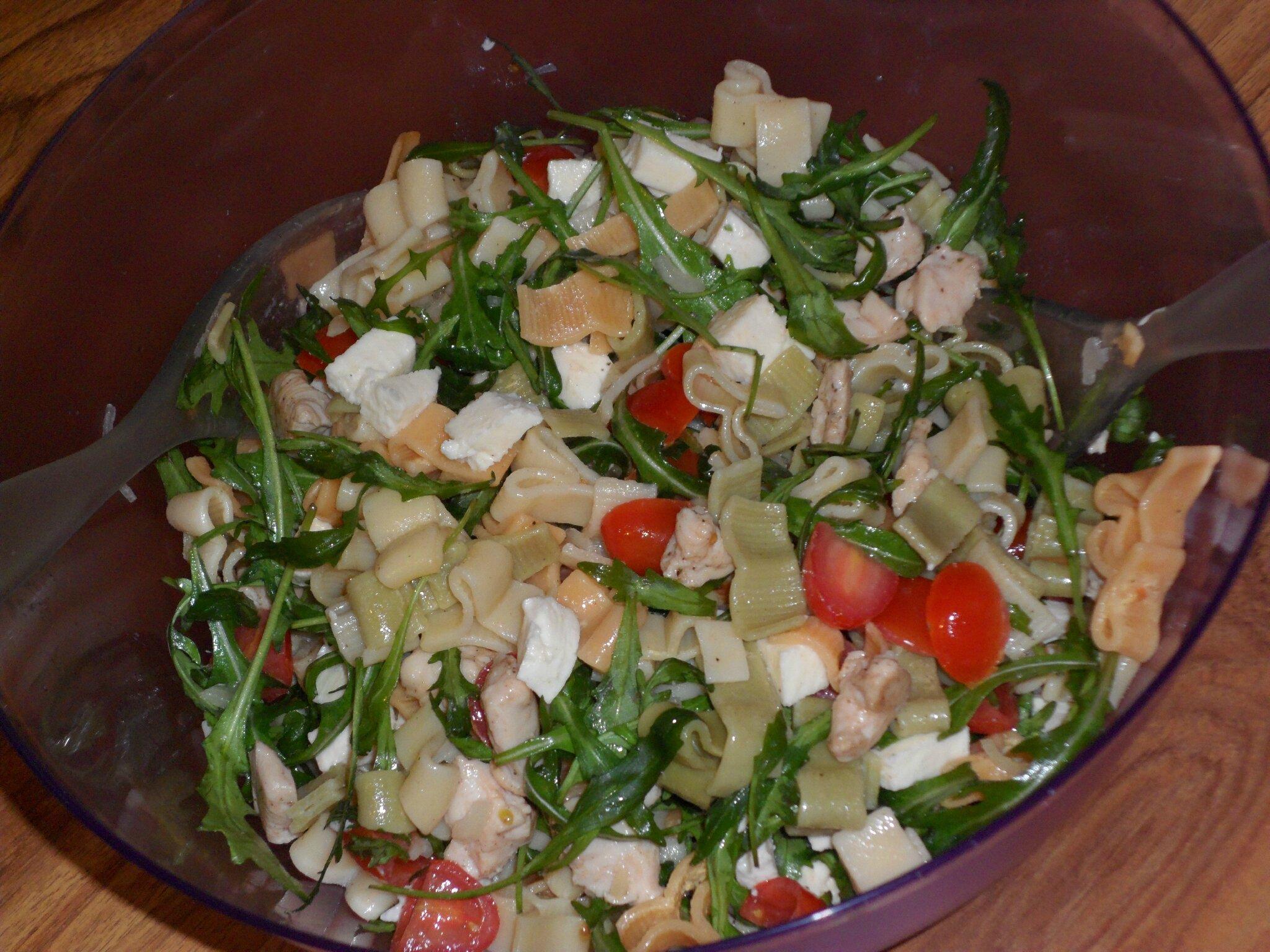 Salade de p tes poulet mozzarella sandy miam miam - Pate a la mozzarella ...