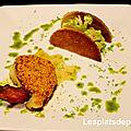 Cabillaud en croute de chorizo, brocolis