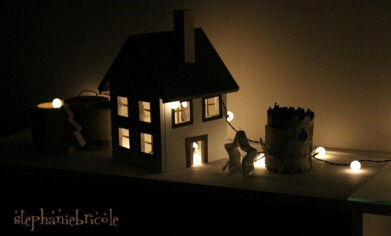 DIY déco : une maison illuminée pour Noël