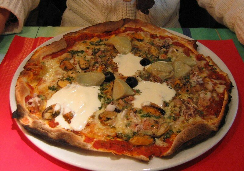 Pizza fruits de mer,