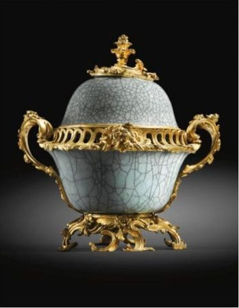 A_pair_of_gilt_bronze_mounted_Chinese_crackle_glaze_celadon_pot_pourri_vases