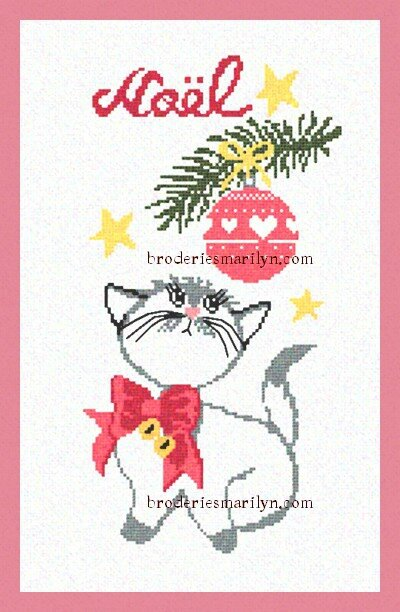 Chat boule de noel blog FB