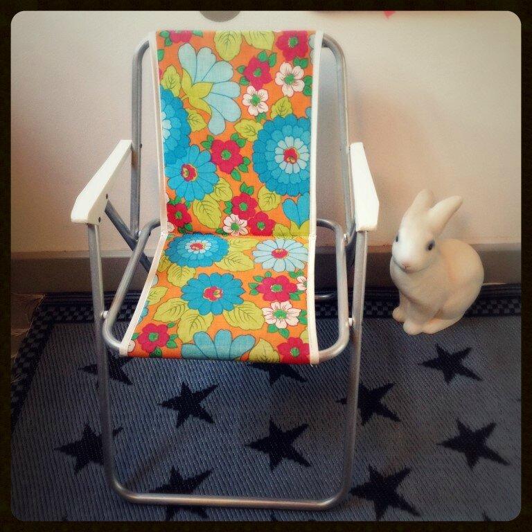 Vendu fauteuil de jardin flower power deco trendy a t e l i e r - Fauteuil pliant enfant ...