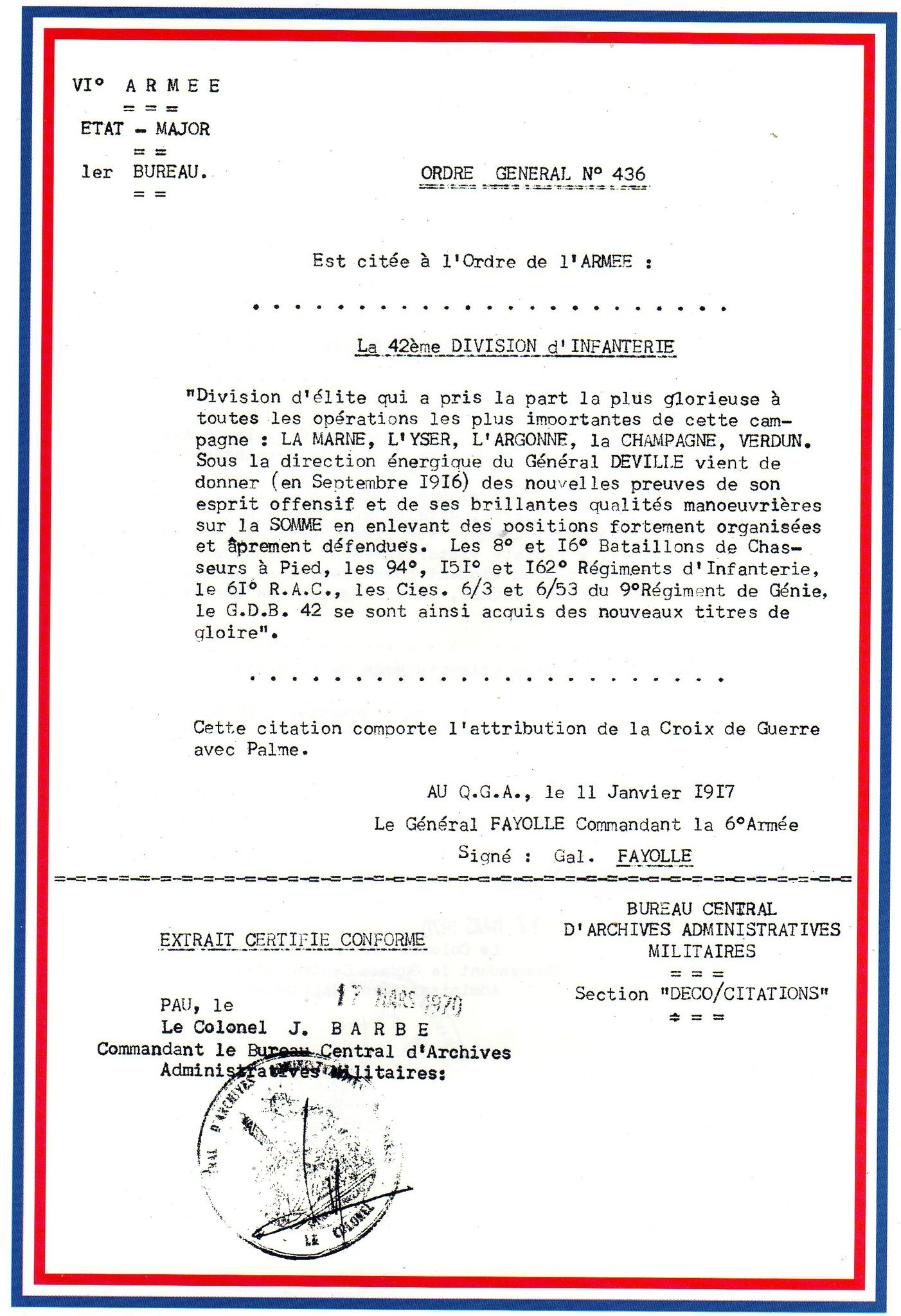 Les citations du bataillon de sidi brahim bataillon de - Bureau central des archives militaires ...